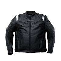 BLOUSON MOTO TRIUMPH CUIR HARRIER, HOMME, PROTECTIONS - TAILLE 48(GB) 58(EUR)