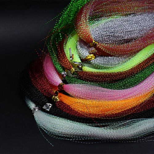 200Pc Lametta Kristall Fishing String Jig Lure Making Fischen Mater Gift