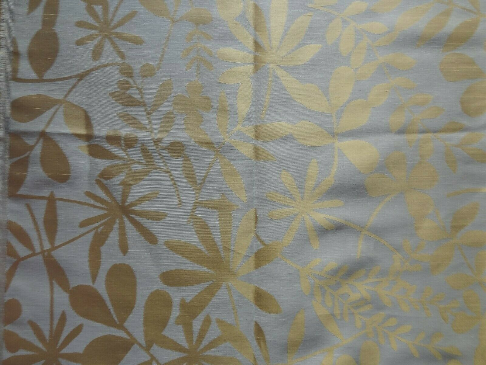 VILLA NOVA woven HONESTY LEAF 4.6 metres curtain Blind fabric SOFT Gold