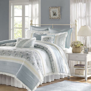 Bed bag luxury 9pc comforter set cal king queen cotton daybed bedding