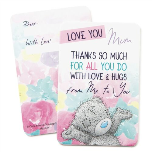 Tatty Teddy Bear Me to You Love You Mum Keepsake Card Gift For Mothers