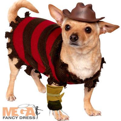 Freddy Kruger Dog Costume Halloween Nightmare On Elm Street Pet Costume Nuovo-mostra Il Titolo Originale Promuovere La Salute E Curare Le Malattie