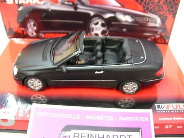 1 43 Minichamps MB clk cabriolet 'Fulda' 2002 nero mate 436031432