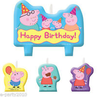 Peppa Pig Candle Set (4pc) Birthday Party Supplies Cake Decorations Nick Jr