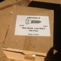 2 1/2 Lag Bolts For Satellite Or Outdoor Installations 50 In Package