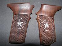 Tokarev Tt33 Fine Black Walnut Checkered Pistol Grips W/us.safety Relief & Logo