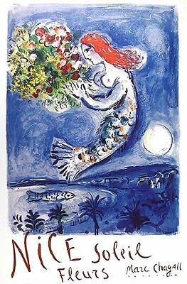 "Marc Chagall - ""Nice Soleil Fleurs"",  poster"