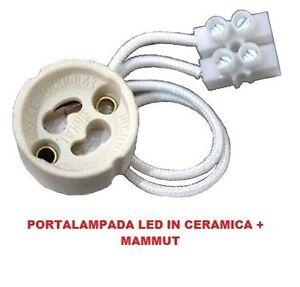 ds Portalampada GU10 in Ceramica Per Faretto 250V Lampadine a Led Mammut moc