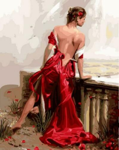 Woman in Red Van-Go Paint-By-Number Kit