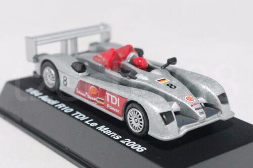 NewRay 1:64 Diecast Audi R10 TDI Le Mans 2006 Car Silver Color Model Collection