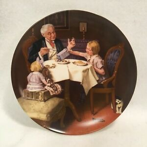 Vintage-Norman-Rockwell-Collector-Plate-by-Knowles-034-The-Gourmet-034