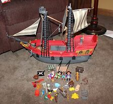 Playmobil Pirate Ship 3940 / 3286 not complete pirate figures accessories lot