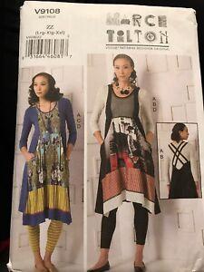Vogue-V9108-Marcy-Tilton-Designer-Originals-Dress-Size-LG-XL-XXL-Pattern-Uncut