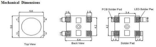 10 x WS2812B 4 pin 5050 SMD Addressable Digital RGB LED Chip WS2811 Black
