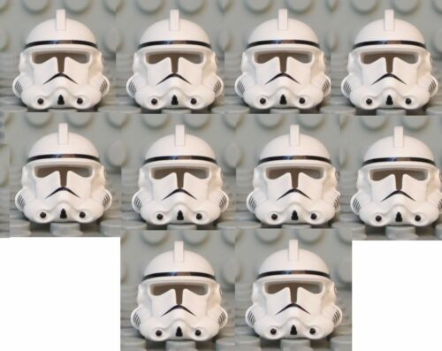 Episode 3 LEGO® White Helmet from EP 3 Clone Trooper  X 10 from 7655