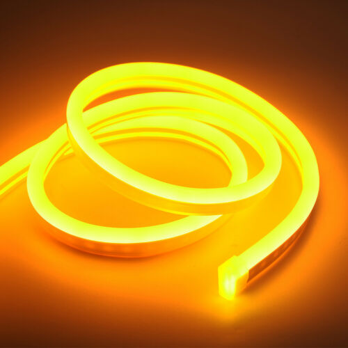 12V Waterproof Silicone Flexible LED Strips Neon Lights Lamp 1-5m With Adapter
