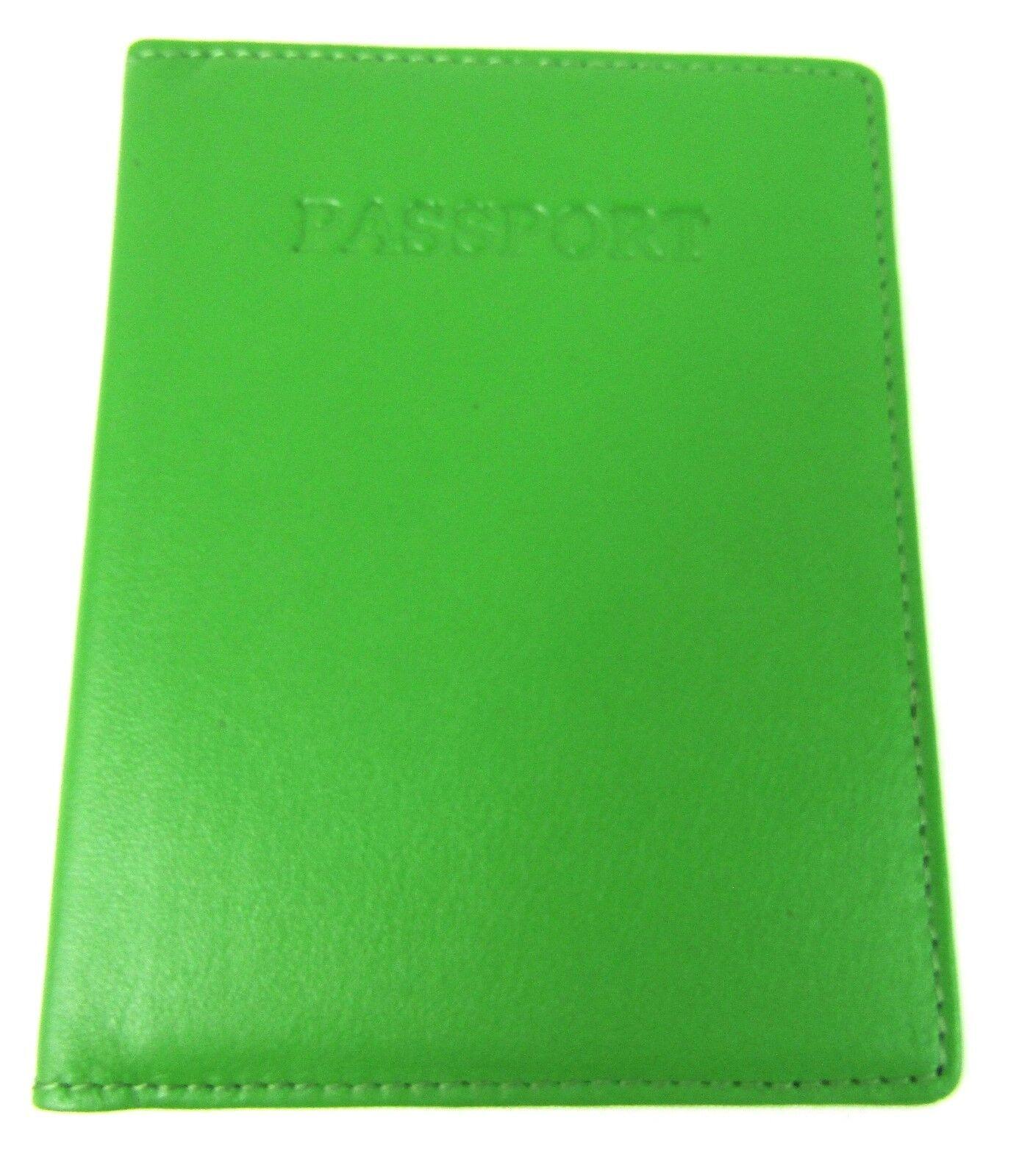 Genuine Leather Passport Holder Travel Wallet Documents Folder Rfid Protected