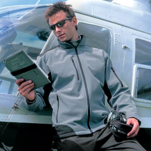 Waterproof Ripstop BLUE BLACK or GREY Fleece Lined Breathable Soft Shell Jacket