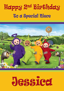 Image Is Loading Teletubbies Personalised A5 Birthday Card Son Daughter Niece