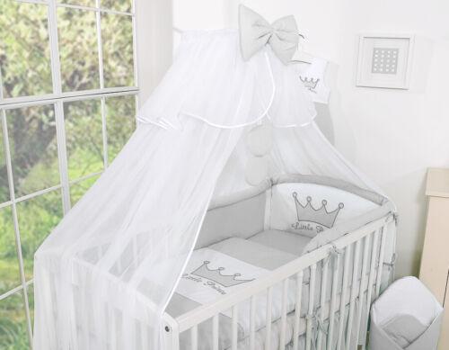 Bobono Himmel Bettset Little Princess Kleine Prinzessin Grau 6-10 Teilig Neu