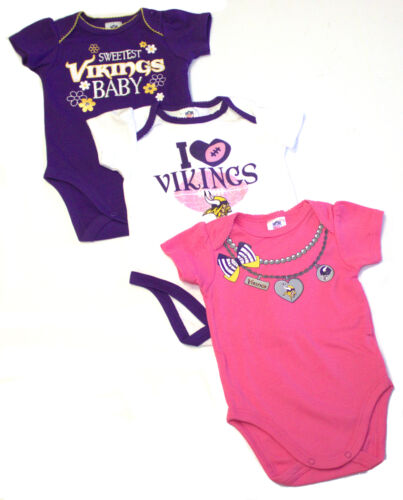 Minnesota Vikings 2017 Girls 3 Piece  Bodysuit Set