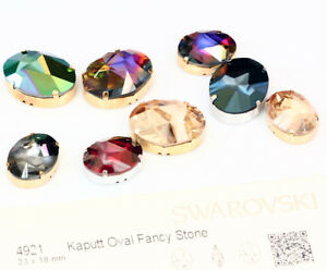 5551a0516cea Image is loading Genuine-SWAROVSKI-4921-Kaputt-Oval-Fancy-Crystals-with-