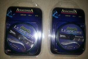 Anaconda Diver Line 20m 15lb 6,8kg Vorfachmaterial Karpfenvorfach Leadcore