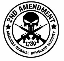 2ND AMENDMENT GUN Xtra Large Vinyl Decal Sticker Truck Window Car 18 Colors