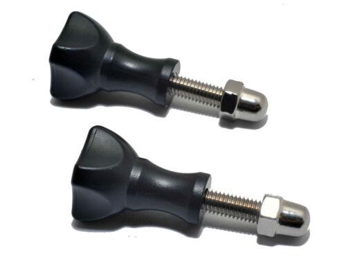 2x Ersatz Kurz Daumen Schraube Griffe mit Schrauben Kappe für GOPRO Hero Kameras