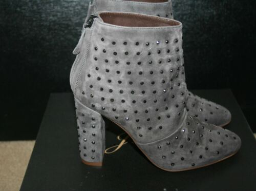 J.CREW ADELE CRYSTAL SUEDE BOOTS SIZE 7M HERON GREY