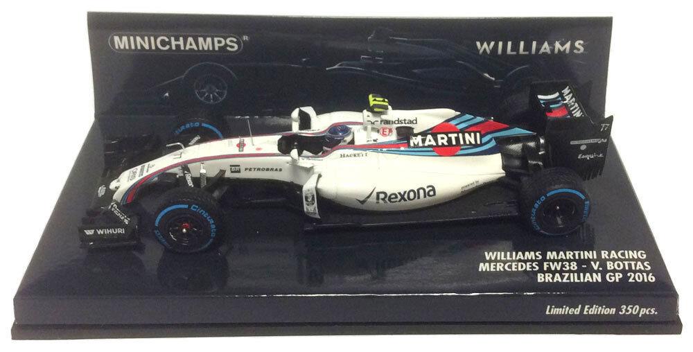 Minichamps Williams FW38 brasileño GP 2016-Valtteri Bottas 1 43 Escala