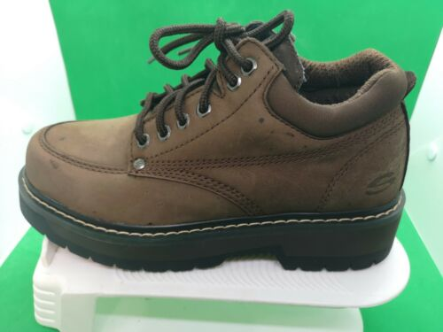 VTG WOMENS SKECHERS 2168 CHUNKY BOOTS COMFORT BROW
