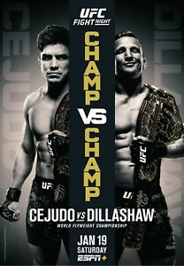 Details about UFC 233 Poster - Cejudo vs Dillashaw - Fight Night - Champ vs  Champ 11x17 13x19