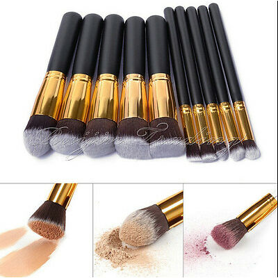 10pcs Pro maquillaje cosmetico herramienta pincel brochas set Eyeshadow Blush