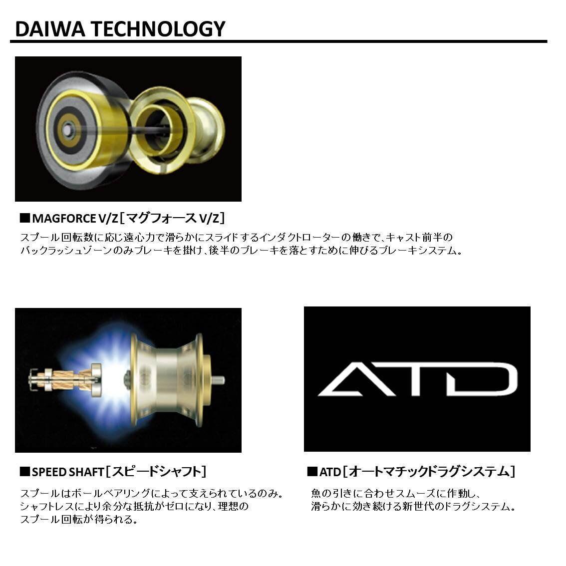 Daiwa casting 18 Ryoga 1016H Right handle Bait casting Daiwa reel from Japan New a18ebc