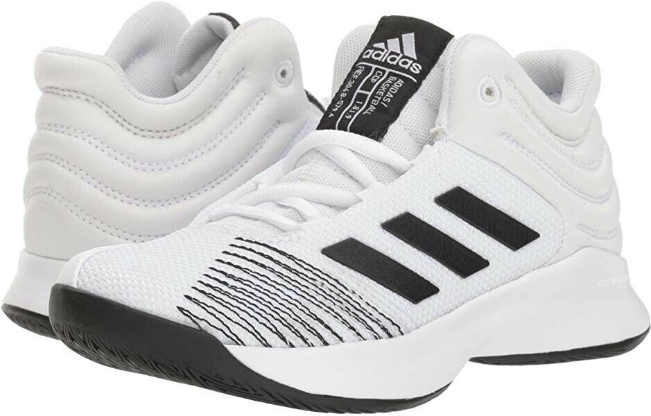 Adidas Pro Spark 2018 Mens 6 Womens 7 White Black Basketball shoes Sneakers NEW