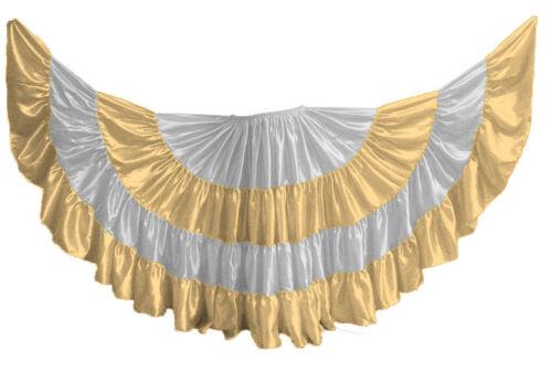 LIGHT GOLD 25 Yard 4 Tiered Satin Skirt Belly Dance GYPSY Rock Tribal Flamenco