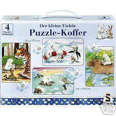 PUZZLE-Koffer-4-Puzzles-Der-kleine-Eisbaer-55293