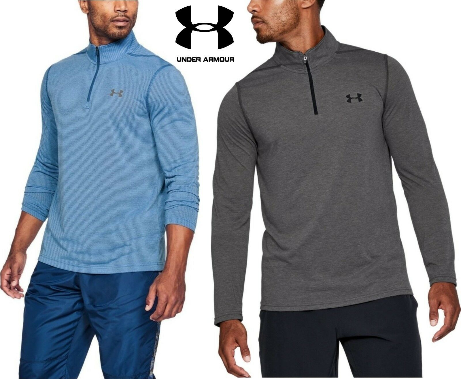 Under Armour Uomo Threadborne Fitted Fitted Fitted Half Zip Top - UA Nuovo Long Sleeve 1290270 bd3c25