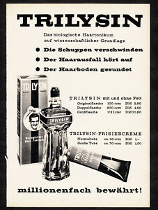 3w02381/Old Advertising 1961-trilysin-the biological haartonicum