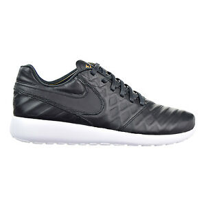 853535-007 Nike Mens Roshe Tiempo VI QS Black/Metallic Gold-White Leather
