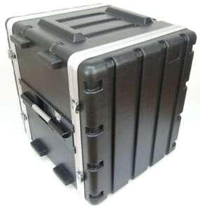 12 HE Double Door Hartschlenrack Flightcase KR-19, 12HE ABS Kunststoffrack Rack