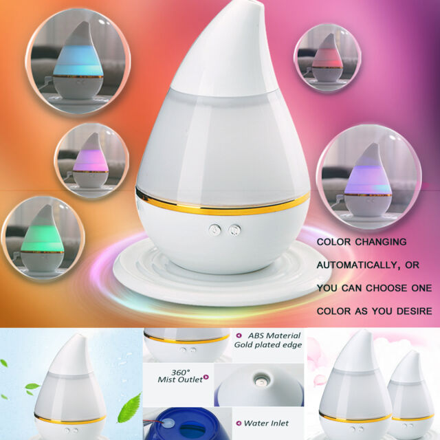 250ml LED Ultrasonic Cool Mist Aroma Humidifier Aromatherapy Essential Diffuser