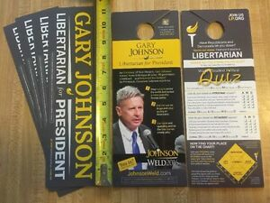 100-Door-Hangers-25-Stickers-Gary-Johnson-President-2016-Libertarian-Quiz-2020