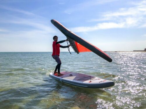 F2 WING SAIL GR. 5,0 QM RED~ SURF FOIL SEGEL WINGSEGEL SUP FLÜGEL ~ TESTWING