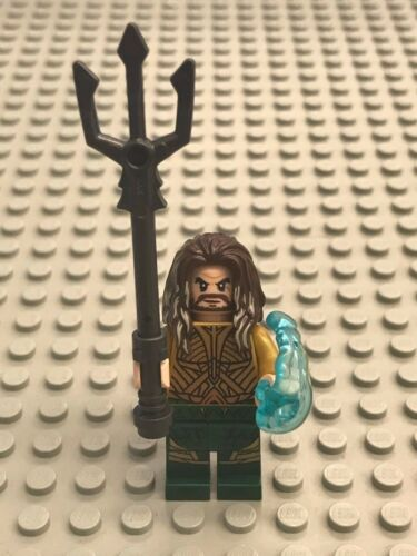 NEW LEGO Battle of Atlantis Aquaman Minifig with trident and shooter 76085