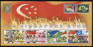 Singapore-stamps-1998-Singapore-Story-MS-Gold-exh-logo-overprint-MNH-LKY-rally