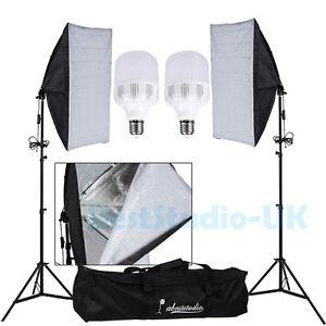 Profi-LED-50W-Fotostudio-Set-Softbox-Set-Studioleuchte-Taglicht-Fotolampe-Tasche