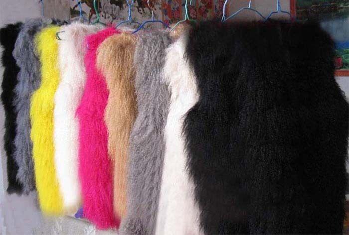 Women Real Mongolian Shaggy Suede Lamb Fur Vest Gilet Best Fur New Coat Delicate