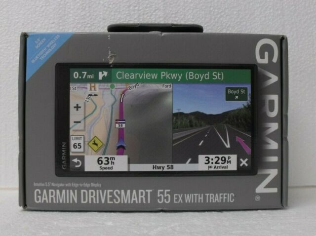 NEW Garmin DriveSmart 55 EX with Traffic 5.5 inch GPS Navigation Navigator Black